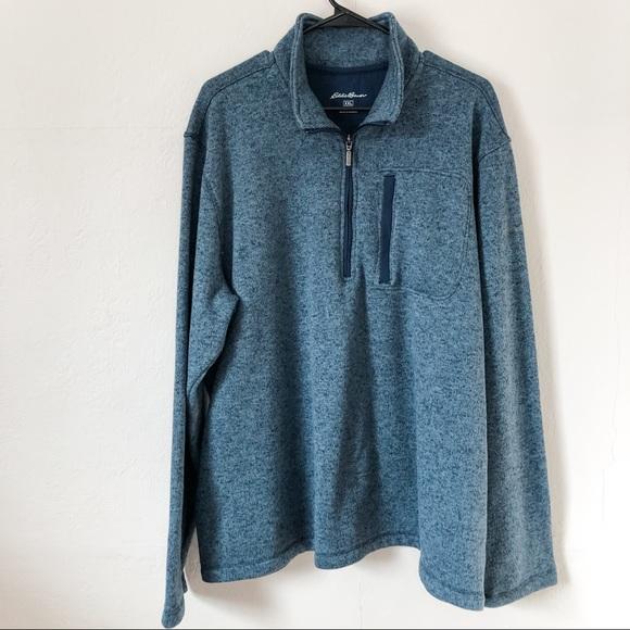Eddie Bauer Blue Quarter-Zip Sweater